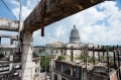 The Capitolio seen from the roof of the former Hotel Bristol in Central Havana. This 1930s hotel was abandoned and fell into disrepair. Former employees of the hotel then decided to live in the building.